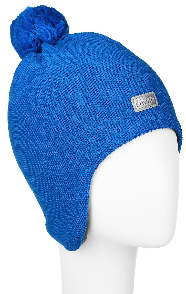 Шапка детская Lassie, цвет: ярко-синий. 728695-6510. Размер S (46/48)728695-6510Комфортная детская шапка Reima Lassie идеально подойдет для прогулок в холодное время года.Вязаная шапка с ветрозащитными вставками в области ушей, выполненная из шерсти и акрила, максимально сохраняет тепло, она мягкая и идеально прилегает к голове. Шерсть хорошо тянется и устойчива к сминанию. Мягкая подкладка выполнена из флиса, поэтому шапка хорошо сохраняет тепло и обладает отличной гигроскопичностью (не впитывает влагу, но проводит ее).Шапка оформлена ярким помпоном и небольшой нашивкой с названием бренда.Оригинальный дизайн и яркая расцветка делают эту шапку модным и стильным предметом детского гардероба. В ней ваш ребенок будет чувствовать себя уютно и комфортно и всегда будет в центре внимания! Уважаемые клиенты!Размер, доступный для заказа, является обхватом головы ребенка.