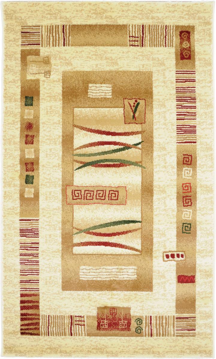 Ковер Kamalak Tekstil, прямоугольный, 100 x 150 см. УК-0044УК-0044Ковер Kamalak Tekstil изготовлен из прочного синтетического материала heat-set, улучшенного варианта полипропилена (эта нить получается в результате его дополнительной обработки). Полипропилен износостоек, нетоксичен, не впитывает влагу, не провоцирует аллергию. Структура волокна в полипропиленовых коврах гладкая, поэтому грязь не будет въедаться и скапливаться на ворсе. Практичный и износоустойчивый ворс не истирается и не накапливает статическое электричество.Ковер обладает хорошими показателями теплостойкости и шумоизоляции. Оригинальный рисунок позволит гармонично оформить интерьер комнаты, гостиной или прихожей.За счет невысокого ворса ковер легко чистить. При надлежащем уходе синтетический ковер прослужит долго, не утратив ни яркости узора, ни блеска ворса, ни упругости.Самый простой способ избавить изделие от грязи - пропылесосить его с обеих сторон (лицевой и изнаночной). Влажная уборка с применением шампуней имоющих средств не противопоказана.Хранить рекомендуется в свернутом рулоном виде.