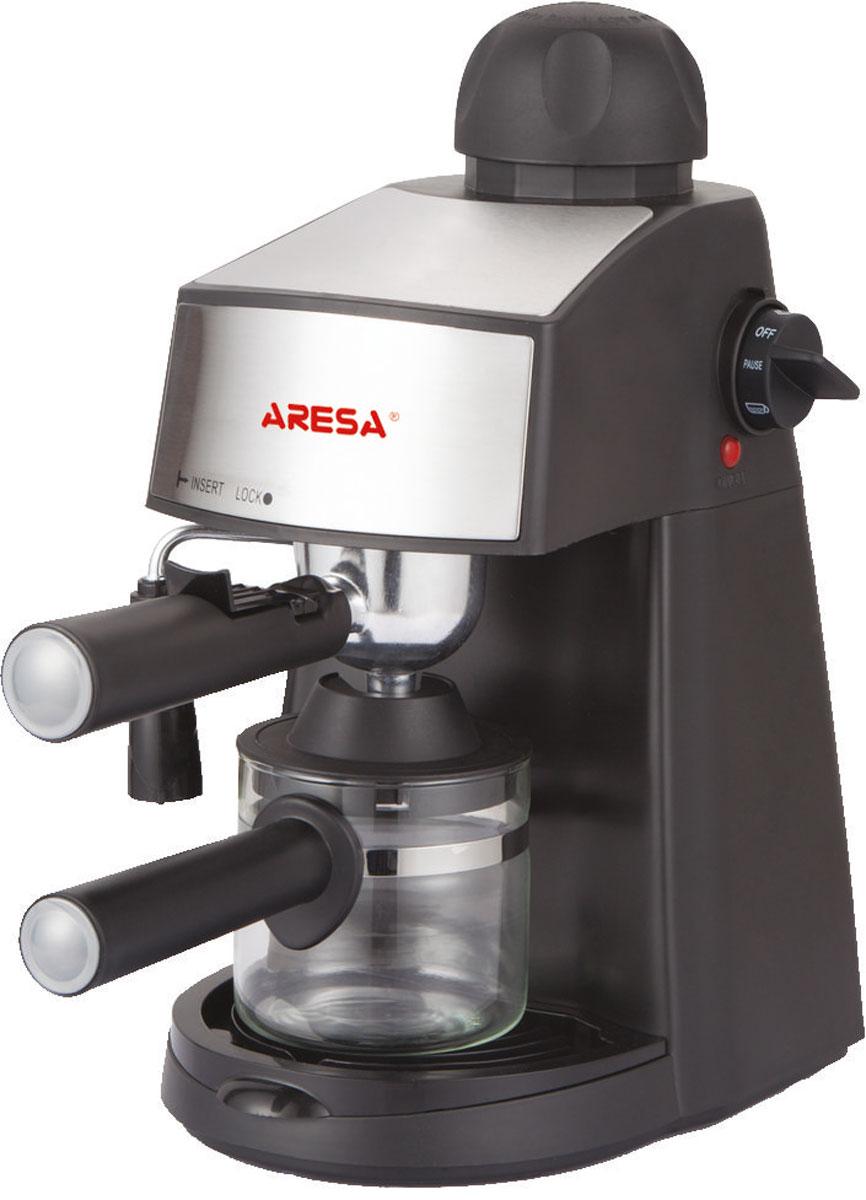 Aresa AR-1601 кофеваркаAR-1601Превосходная рожковая кофеварка Aresa AR-1601 для приготовления ароматного эспрессо на каждый день. Данная модель оборудована насосной системой давления на 3,5 бар. Прибор оснащен съемным лотком для сбора капель и предохранительным клапаном для обеспечения комфортного использования. Также имеется светодиодный индикатор питания. Емкость кофеварки рассчитана на 4 чашки.
