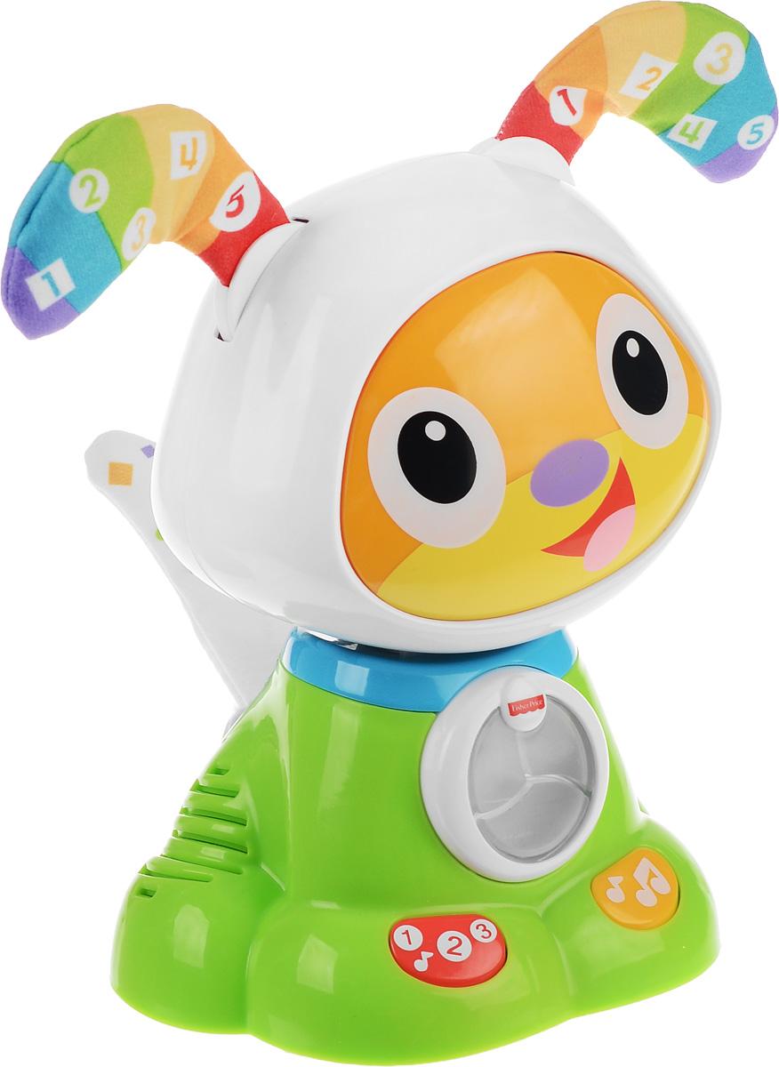 Fisher-Price Развивающая игрушка Танцующий щенок робота Бибо fisher price развивающая игрушка пианино ученого щенка