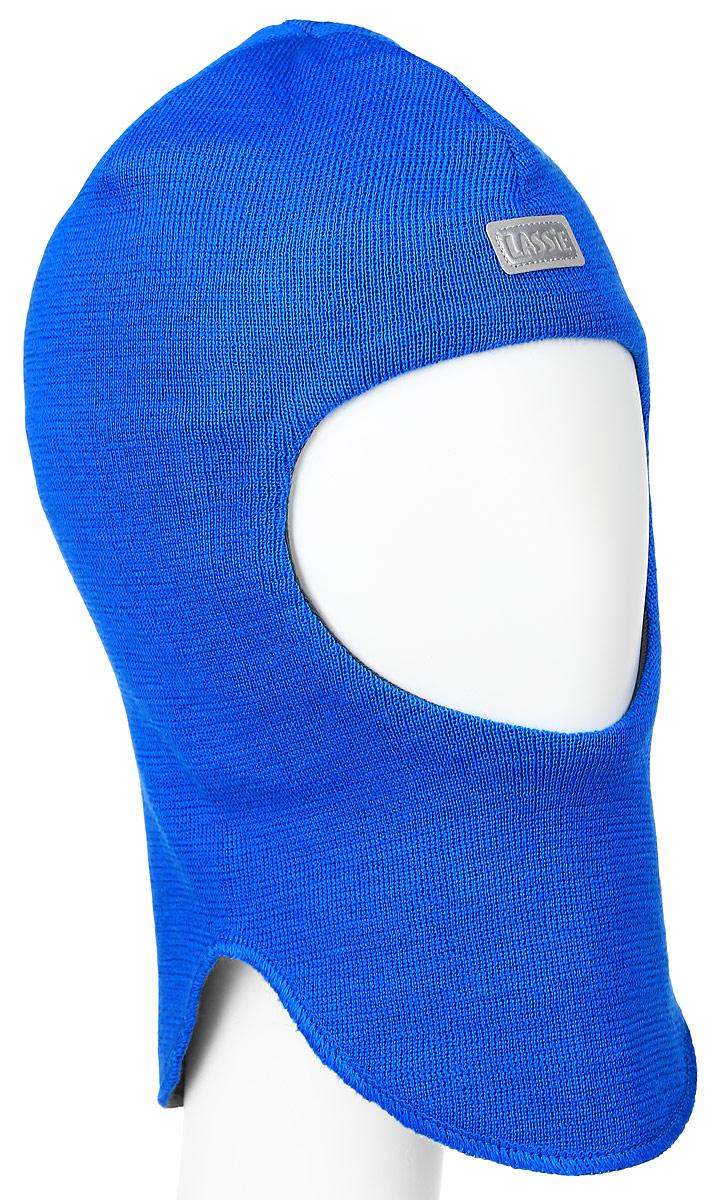 Балаклава детская Lassie, цвет: ярко-синий. 718695-6510. Размер XS (44/46)718695-6510Детская шапка-шлем Reima Lassie идеально подойдет для прогулок в холодное время года. По своей конструкции шлем облегает головку ребенка, надежно защищая ушки, лобик и щечки от продуваний. Модель изготовлена из эластичной и мягкой смеси шерсти и акрила, она мягкая и идеально прилегает к голове. Мягкая подкладка выполнена из хлопка с добавлением эластана, поэтому шапка хорошо сохраняет тепло и обладает отличной гигроскопичностью (не впитывает влагу, но проводит ее). Шерсть хорошо тянется и устойчива к сминанию.Изделие дополнено небольшой нашивкой с названием бренда. Ее также можно надевать под зимнюю шапку в холодную погоду или под спортивный шлем для удобства и дополнительной защиты.Модный жаккардовый узор добавляет образу изюминку!В ней ваш ребенок будет чувствовать себя уютно и комфортно. Уважаемые клиенты!Размер, доступный для заказа, является обхватом головы.