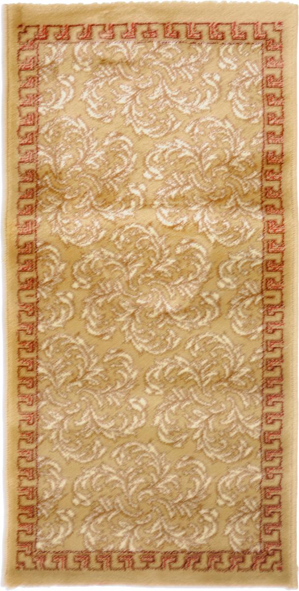 Ковер Kamalak tekstil, прямоугольный, цвет: кремовый, 50 x 100 см. УК-0445УК-0445Ковры-паласы выполнены из полипропилена. Ковры обладают хорошими показателями теплостойкости и шумоизоляции. Являются гиппоалергенными. За счет невысокого ворса ковры легко чистить. Вам придется по душе широкая гамма цветов и возможность гармонично оформить интерьер. Практичный и устойчивый к износу ворс - от постоянного хождения не истирается, не накапливает статическое электричество. Структура волокна в полипропиленовых моделях гладкая, поэтому грязь не может выесться, на ворсе она скапливается с трудом. Полипропилен не впитывает влагу, отталкивает водянистые пятна. Уход: Самый простой способ избавить изделие от грязи – пропылесосить его с обеих сторон (лицевой и изнаночной).Влажная уборка с применением шампуней и моющих средств не противопоказана. Если шерсти и шёлку универсальные чистящие составы не подходят, то для синтетики они придутся в самый раз.Хранить их нужно рулоном, не складывая «салфеткой».При надлежащем уходе синтетический ковёр прослужит долго, не утратив ни яркости узора, ни блеска ворса, ни его упругости.