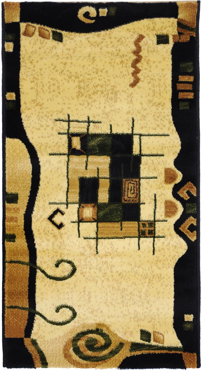 Ковер Kamalak tekstil, овальный, цвет: кремовый, 60 x 110 см. УК-0337УК-0337Ковры-паласы выполнены из полипропилена. Ковры обладают хорошими показателями теплостойкости и шумоизоляции. Являются гиппоалергенными. За счет невысокого ворса ковры легко чистить. Вам придется по душе широкая гамма цветов и возможность гармонично оформить интерьер. Практичный и устойчивый к износу ворс - от постоянного хождения не истирается, не накапливает статическое электричество. Структура волокна в полипропиленовых моделях гладкая, поэтому грязь не может выесться, на ворсе она скапливается с трудом. Полипропилен не впитывает влагу, отталкивает водянистые пятна. Уход: Самый простой способ избавить изделие от грязи – пропылесосить его с обеих сторон (лицевой и изнаночной).Влажная уборка с применением шампуней и моющих средств не противопоказана. Если шерсти и шёлку универсальные чистящие составы не подходят, то для синтетики они придутся в самый раз.Хранить их нужно рулоном, не складывая «салфеткой».При надлежащем уходе синтетический ковёр прослужит долго, не утратив ни яркости узора, ни блеска ворса, ни его упругости.