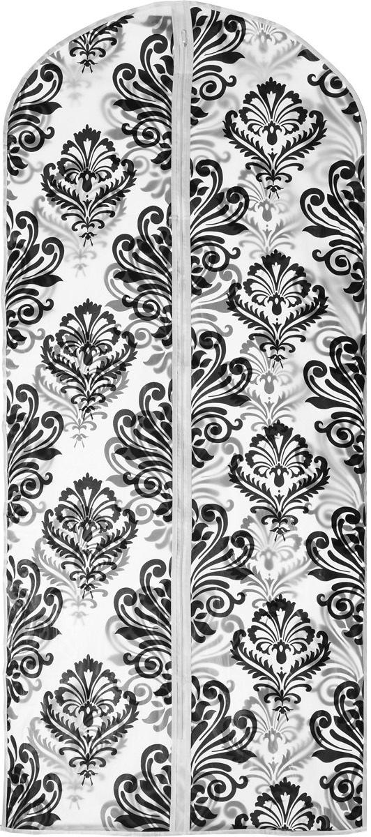 Чехол для одежды Eva Вензеля, 60 х 135 смЕ-16301_белый, черныйПрочный водонепроницаемый чехол для одежды Eva выполнен из материала PEVA/ПЭВА (полиэтиленвинилацетат) и оформлен красивым рисунком. Чехол сохранит ваши вещи в отличном состоянии, защитит их от пыли, грязи и UV-излучения, а также не позволит им помяться. Изделие закрывается на застежку-молнию.Чехол для одежды Eva создаст уютную атмосферу в женском гардеробе. Лаконичный дизайн придется по вкусу ценительницам эстетичного хранения. Изделие станет незаменимым приобретением для перевозки или хранения вещей. Не содержит хлора: более экологичное производство и утилизация.