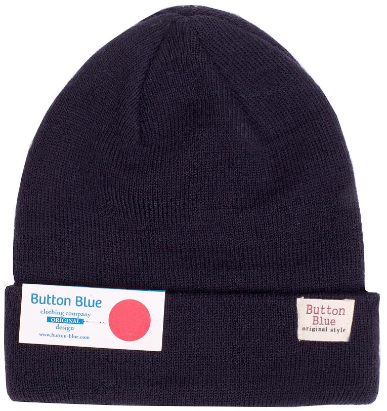 Шапка для мальчика Button Blue, цвет: темно-синий. 216BBBX73021000. Размер 56, 12-13 лет шапка вязаная button blue шапка вязаная