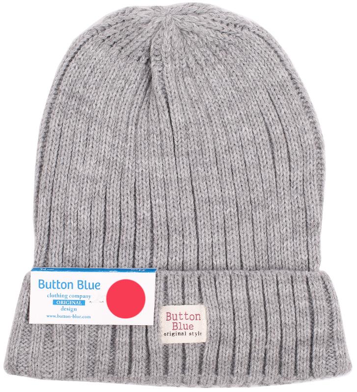Шапка для мальчика Button Blue, цвет: серый меланж. 216BBBX73041900. Размер 56, 12-13 лет216BBBX73041900Детская вязаная шапка - важный атрибут повседневной одежды! Модель выполнена из высококачественного материала, оформлена оригинальной вязкой и подворотом.