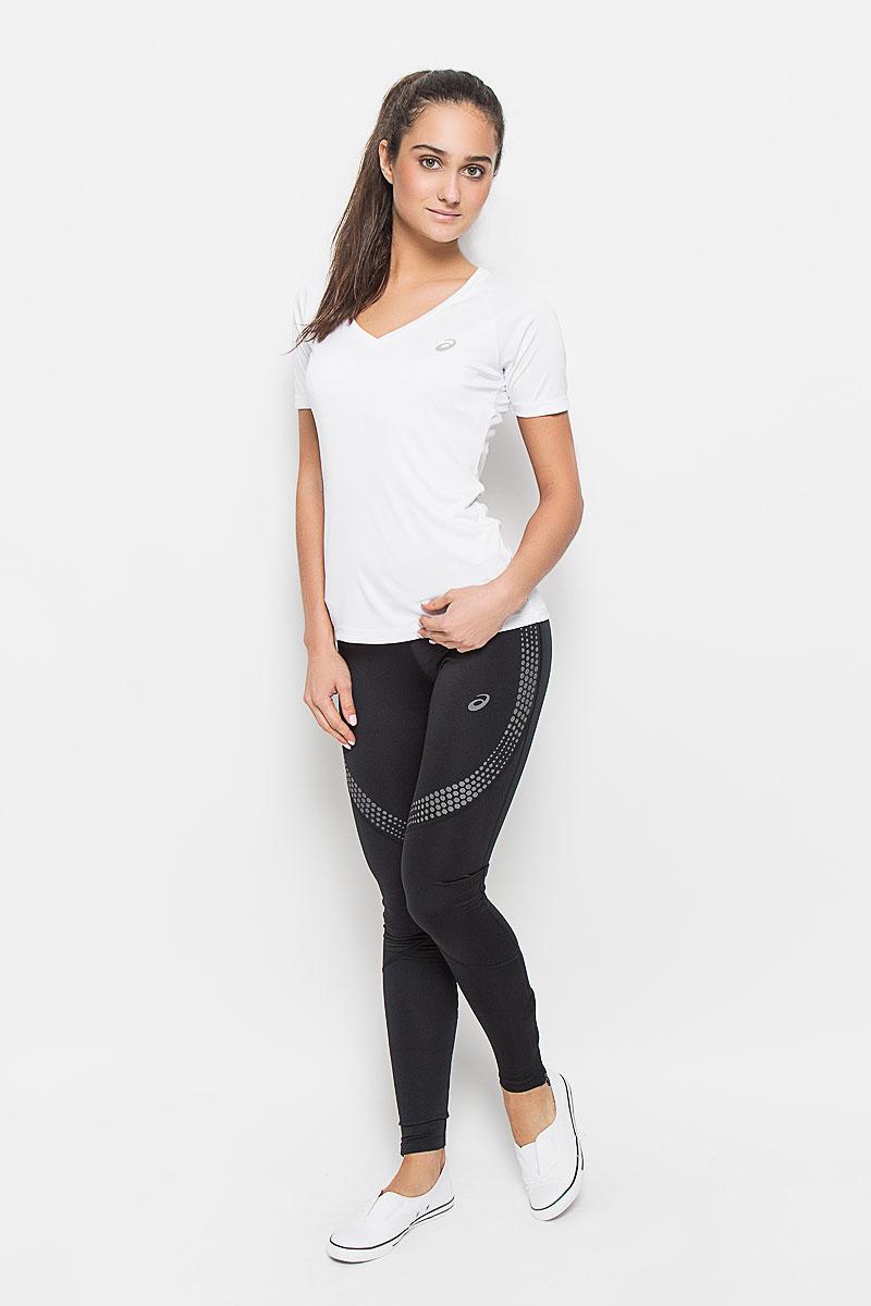 Футболка для тенниса женская Asics Club V-Neck Top, цвет: белый. 130250-0001. Размер S (42/44) футболка asics футболка styled top