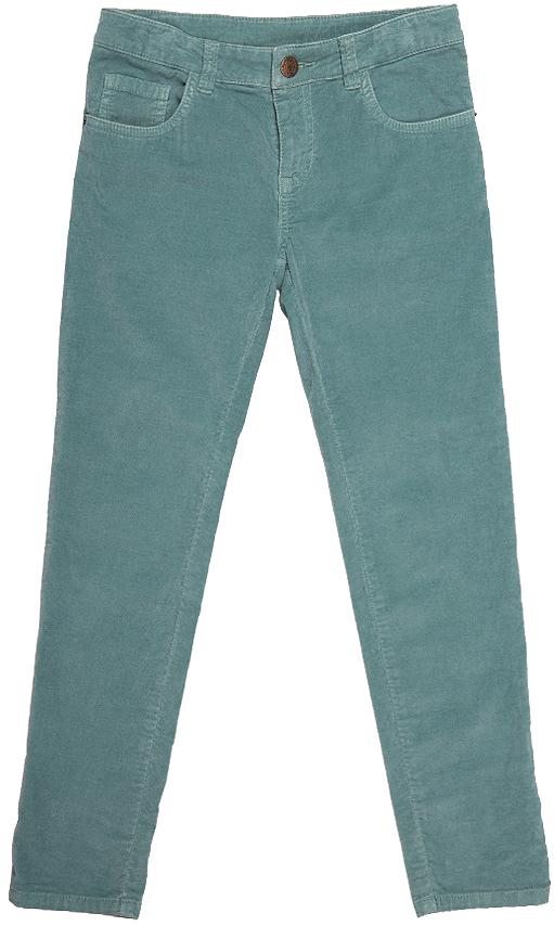 Брюки для девочки Button Blue, цвет: бледно-бирюзовый. 216BBGC63021300. Размер 98, 3 года216BBGC63021300Стильные брюки Button Blue станут отличным дополнением к гардеробу вашей девочки. Изготовленные из хлопка с добавлением эластана, они необычайно мягкие и приятные на ощупь, не сковывают движения и позволяют коже дышать, не раздражают даже самую нежную и чувствительную кожу ребенка, обеспечивая наибольший комфорт. Брюки прямого кроя застегиваются на пуговицу в поясе и ширинку на застежке-молнии. С внутренней стороны в поясе предусмотрена регулируемая эластичная резинка, позволяющая подогнать модель по фигуре. Модель дополнена спереди двумя втачными карманами и маленьким накладным кармашком, сзади - двумя накладными карманами. На поясе предусмотрены шлевки для ремня. Классический дизайн и расцветка делают эти брюки стильным предметом детского гардероба. В них ваша девочка всегда будет в центре внимания!