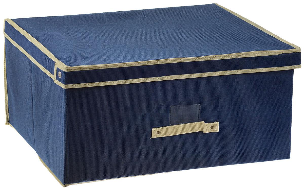 Чехол-коробка Voila Флораль, цвет: бежевый, синий, 60 х 45 х 30 смCOVLSCTF03_бежевый, синийЧехол-коробка Voila Флораль выполнен из полипропилена и предназначен для хранения вещей. Он защитит вещи от повреждений, пыли, влаги и загрязнений во время хранения и транспортировки. Чехол-коробка идеально подходит для хранения детских вещей и игрушек. Жесткий каркас из плотного толстого картона обеспечивает устойчивость конструкции. В окне-кармашке на передней стенке чехла можно поместить бумажную этикетку с указанием содержимого.