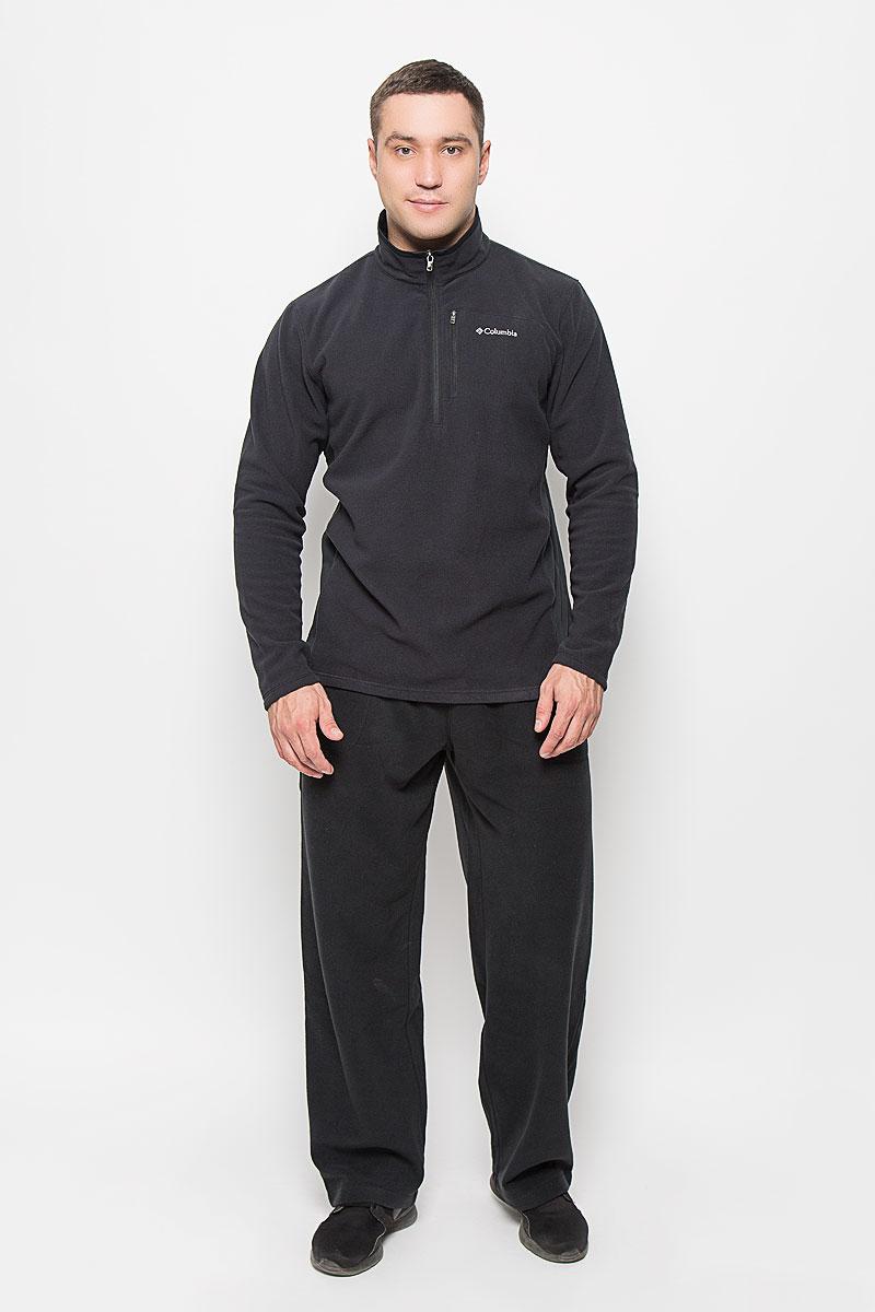 Толстовка мужская Columbia Lost Peak Half Zip Fleece, цвет: черный. 1618411-010. Размер L (48/50)