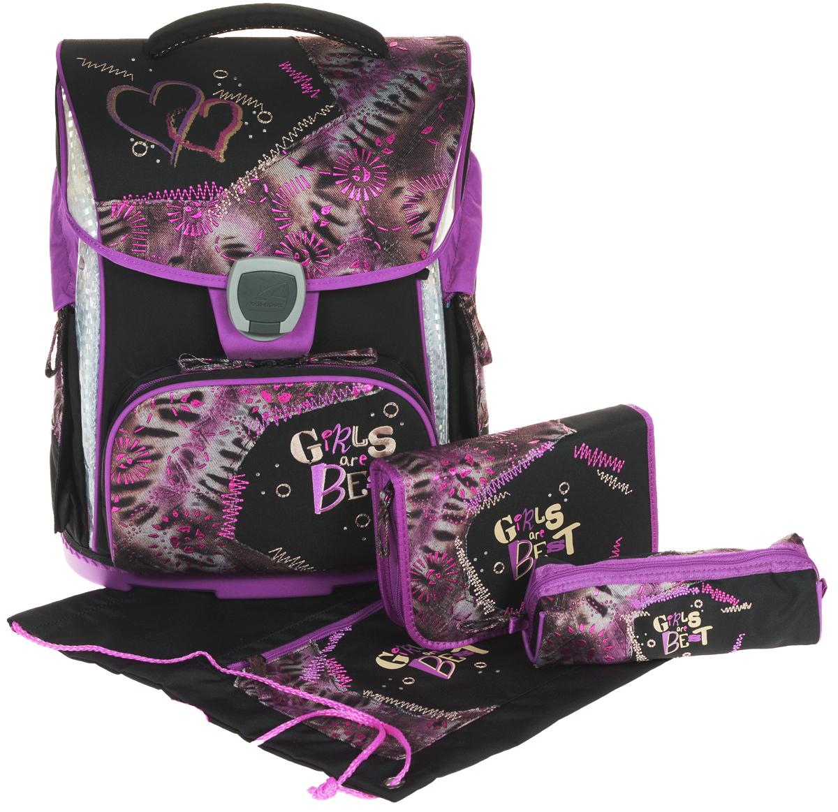 Schneiders Ранец школьный Toolbag-X Girls are Best с наполнением 3 предмета -  Ранцы и рюкзаки