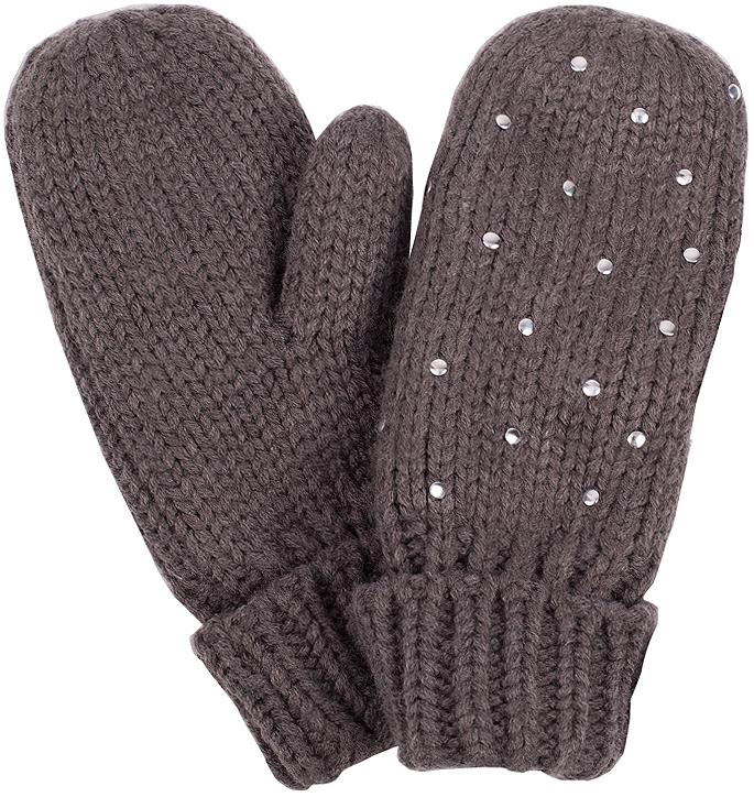 Варежки для девочки Button Blue, цвет: серый меланж. 216BBGX76012300. Размер 18, 12-13 лет216BBGX76012300Детские варежки - незаменимая модель для холодной погоды. Их основная функция - защита от мороза и ветра, и с ней эти варежки на подкладке из флиса справятся наилучшим образом.