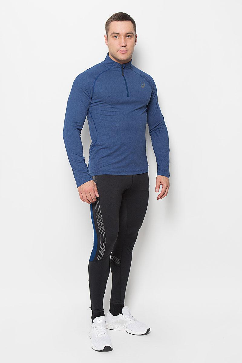 Лонгслив для бега мужской Asics Ls 1/2 Zip Jersey, цвет: синий. 132106-8151. Размер XL (52/54)132106-8151Мужской лонгслив Asics Ls 1/2 Zip Jersey, выполненный из мягкой эластичной ткани, идеально подойдет для бега и занятий фитнесом. Модель отлично сидит и обеспечивает максимальную свободу движений. Материал тактильно приятный, позволяет коже свободно дышать, отводит влагу и сохраняет тело в сухости. Плоские эластичные швы изделия не натирают кожу.Модель с длинными рукавами-реглан и воротником-стойкой застегивается спереди на молнию с защитой подбородка. Спинка лонгслива удлинена. Сбоку расположен прорезной карман на молнии.На изделии предусмотрены светоотражающие детали для безопасности в темное время суток. Лонгслив идеально прилегает к телу и подчеркивает достоинства фигуры, абсолютно не сковывая движений. Модель подарит вам комфорт в течение всего дня!