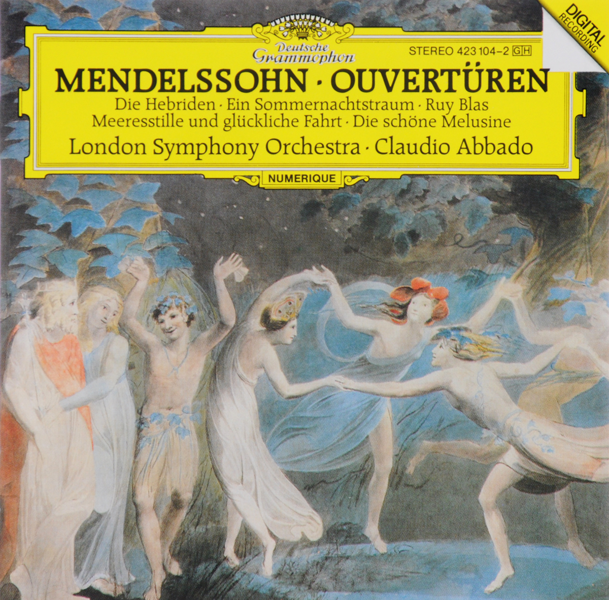 Клаудио Аббадо,The London Symphony Orchestra Claudio Abbado, London Symphony Orchestra. Mendelssohn. Overturen claudio abbado sting prokofiev peter and the wolf