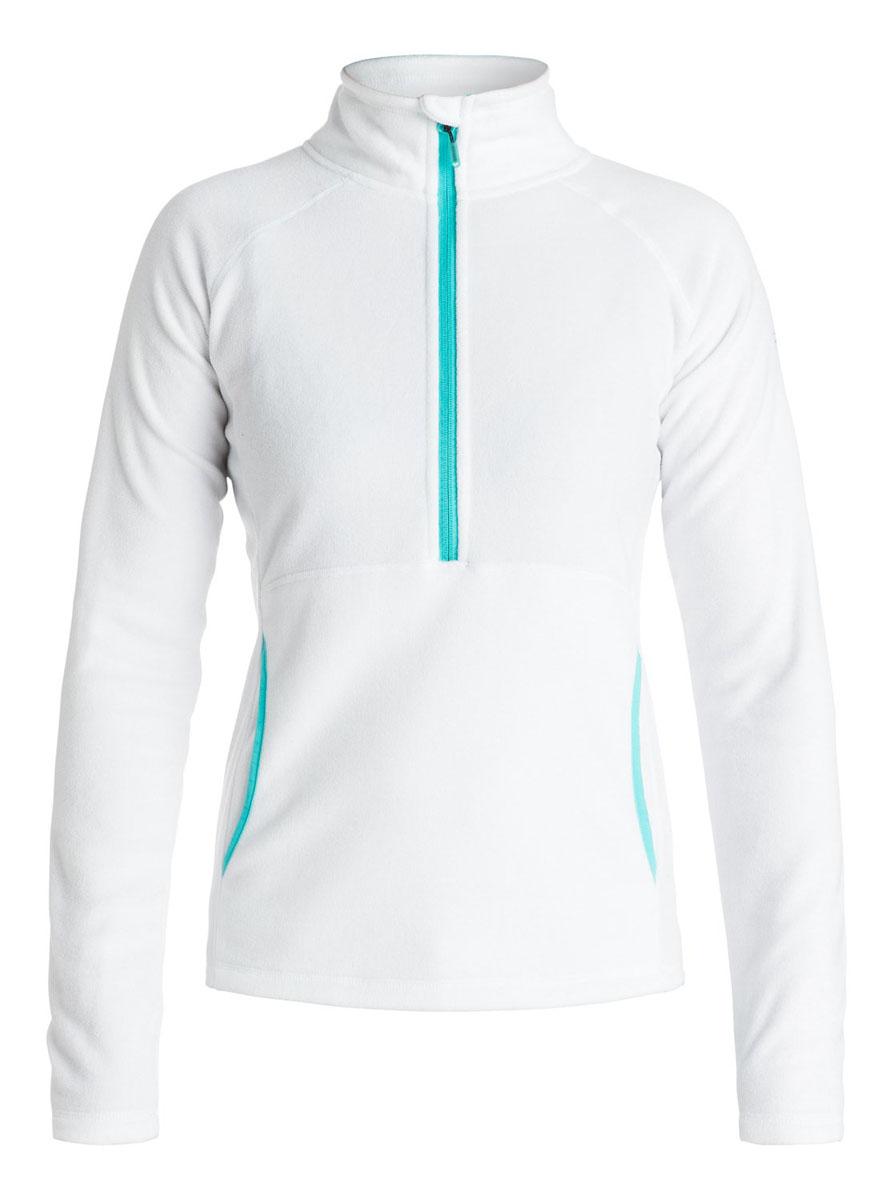 куртка женская roxy billie цвет бирюзовый erjtj03121 bfk0 размер s 42 Толстовка женская Roxy Cascade, цвет: белый. ERJFT03310-WBB0. Размер S (42/44)