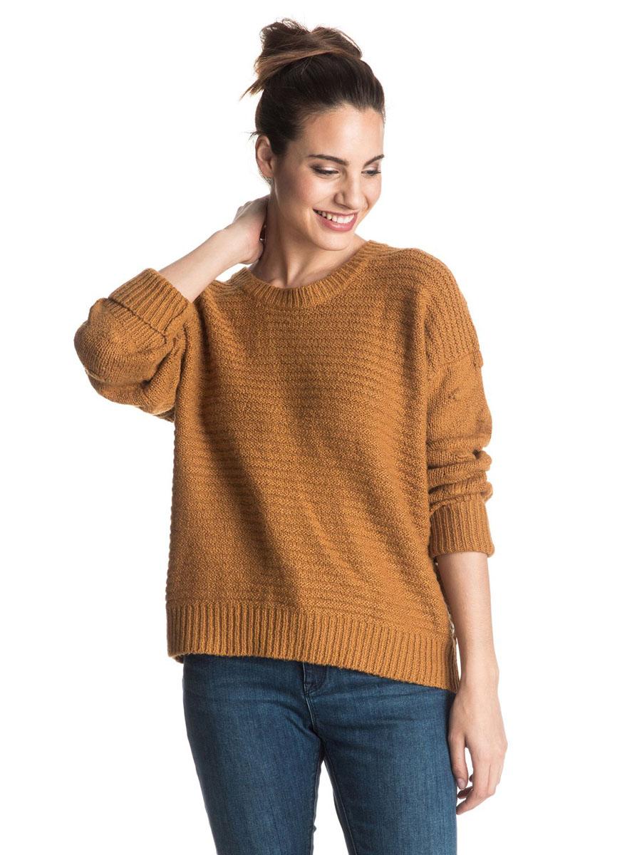Джемпер женский Roxy Rest Ashore, цвет: светло-коричневый. ERJSW03132-CMT0. Размер XS (40/42) цена 2017