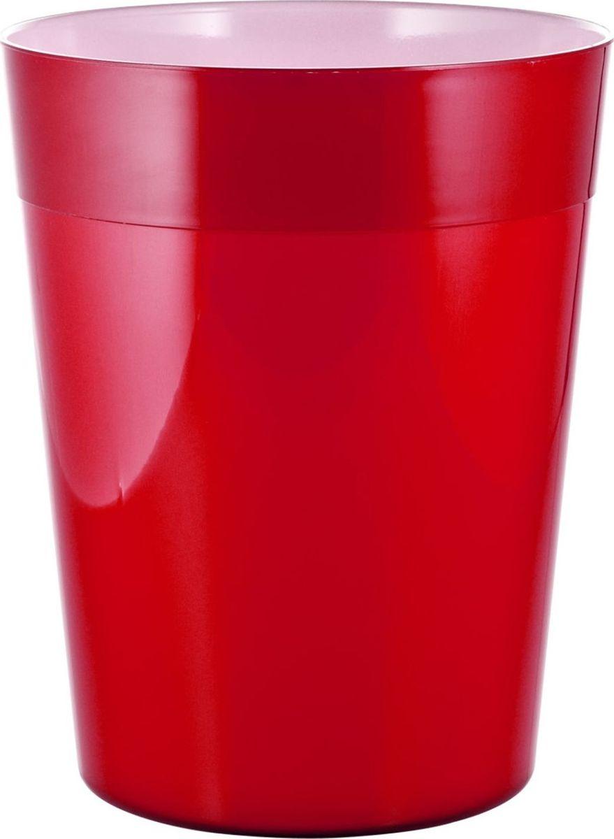 Ведро мусорное Ridder Neon, цвет: красный, 5 л22020606Высококачественные немецкие аксессуары для ванных комнат. Данная серия изготавливается из акрилового стекла.Объем: 5 л.