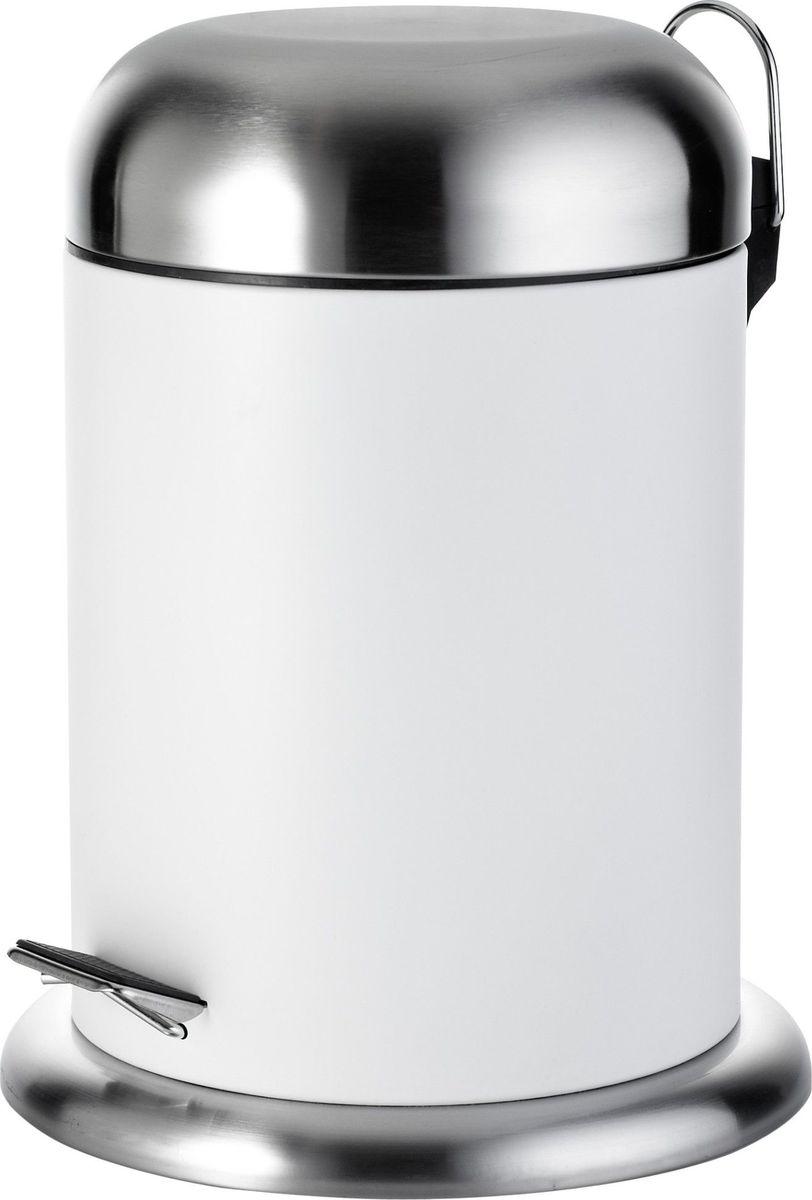 Ведро мусорное Ridder Rondo, цвет: белый, 4 л22030601Высококачественный немецкий аксессуар для ванной комнаты выполнен из высококачественной стали. Объем: 4 л.