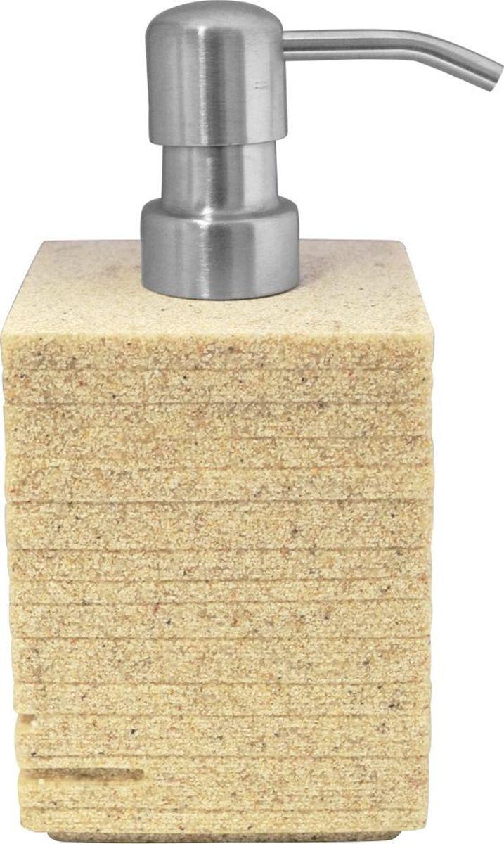 Дозатор для жидкого мыла Ridder Brick, цвет: бежевый, 430 мл391602Дозатор для жидкого мыла Ridder Brick, изготовленный из экологичной полирезины и стекла, отлично подойдет для вашей ванной комнаты. Такой аксессуар очень удобен в использовании, достаточно лишь перелить жидкое мыло в дозатор, а когда необходимо использование мыла, легким нажатием выдавить нужное количество.Дозатор для жидкого мыла Ridder Brick создаст особую атмосферу уюта и максимального комфорта в ванной. Объем дозатора: 430 мл.