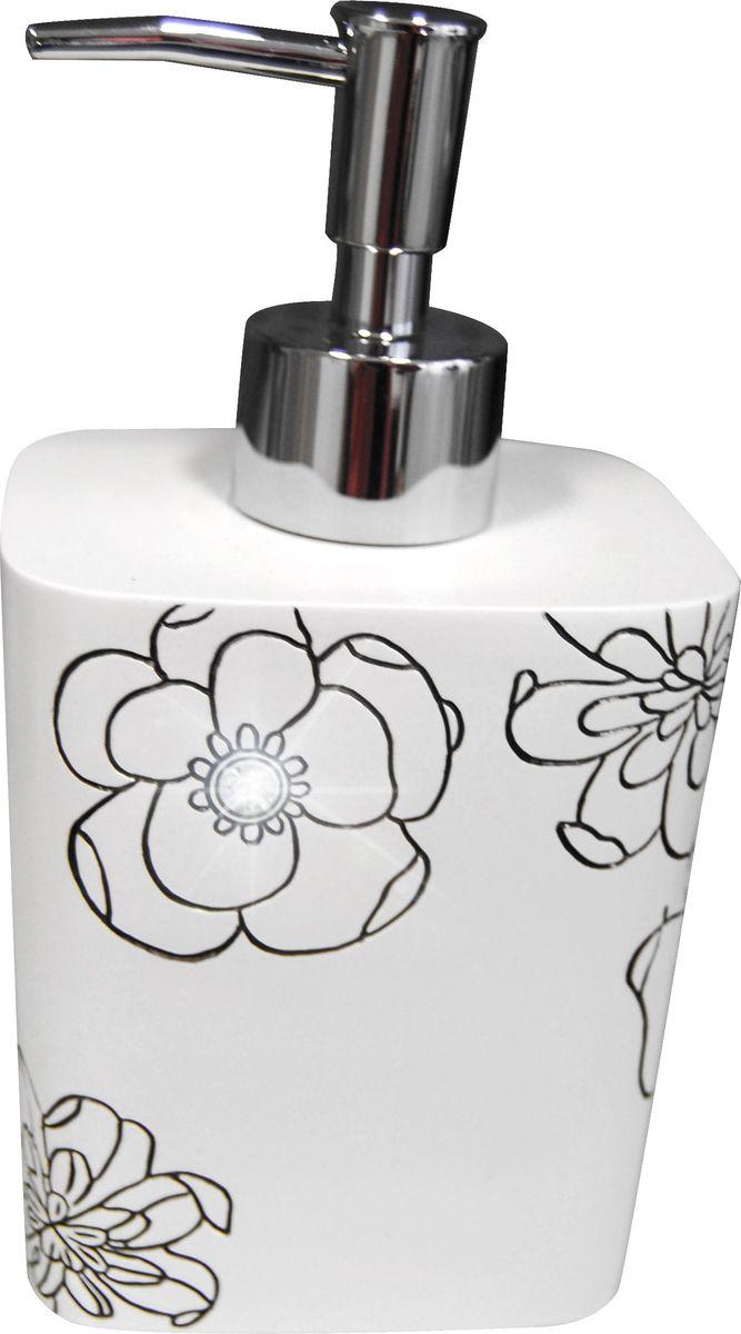 Дозатор для жидкого мыла Ridder Diamond, цвет: белый