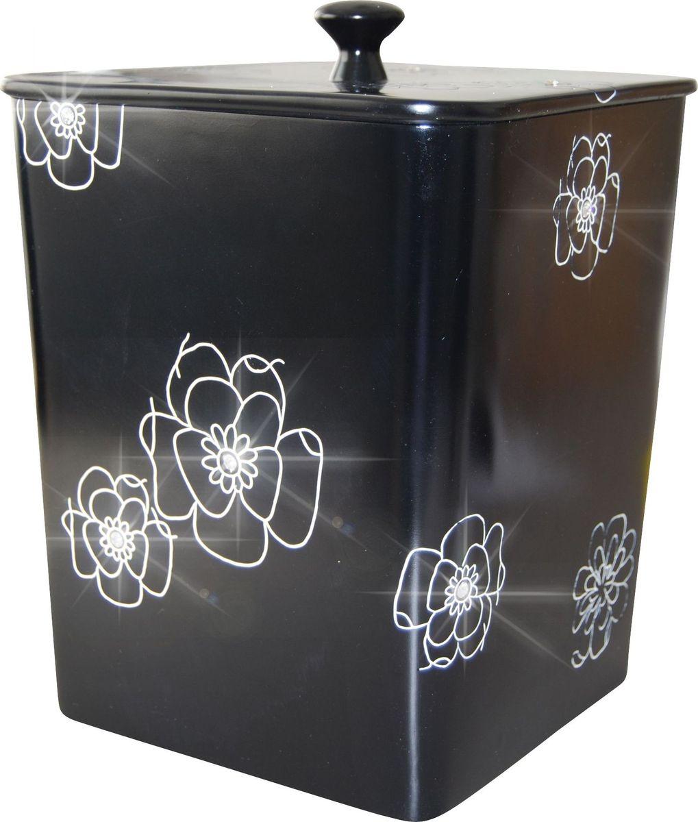 Контейнер для мусора Ridder Diamond, цвет: черный, 8,5 л