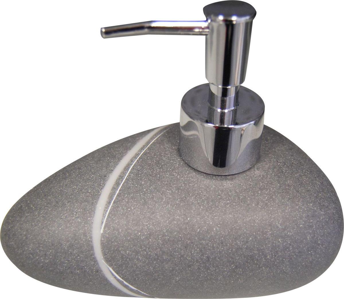 Дозатор для жидкого мыла Ridder Little Rock, цвет: серый22190507Изделия данной серии устойчивы к ультрафиолету, т.к. изготавливаются из полирезины.Экологичная полирезина - это твердый многокомпонентный материал на основе синтетической смолы,с добавлением каменной крошки и красящих пигментов. Объем: 200 мл.