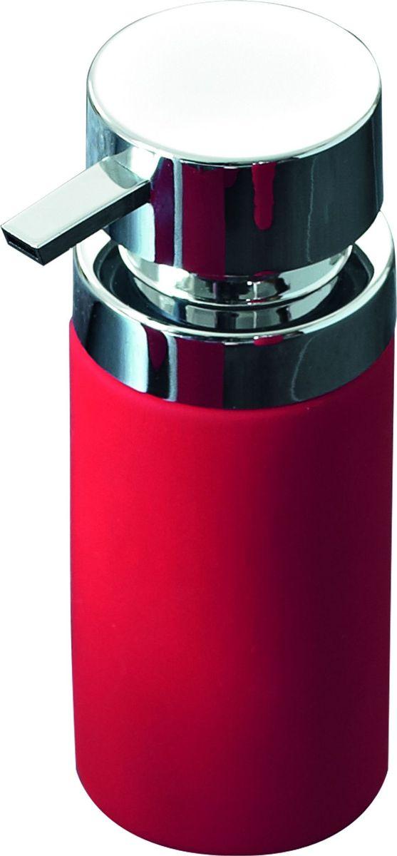 Дозатор для жидкого мыла Ridder Elegance, цвет: красный22220506Дозатор для жидкого мыла Ridder Elegance, изготовленный из керамики и стали,отлично подойдет для вашей ванной комнаты. Такой аксессуар очень удобен в использовании, достаточно лишь перелить жидкое мыло вдозатор, а когда необходимо использование мыла, легким нажатием выдавить нужноеколичество. Объем дозатора: 210 мл.