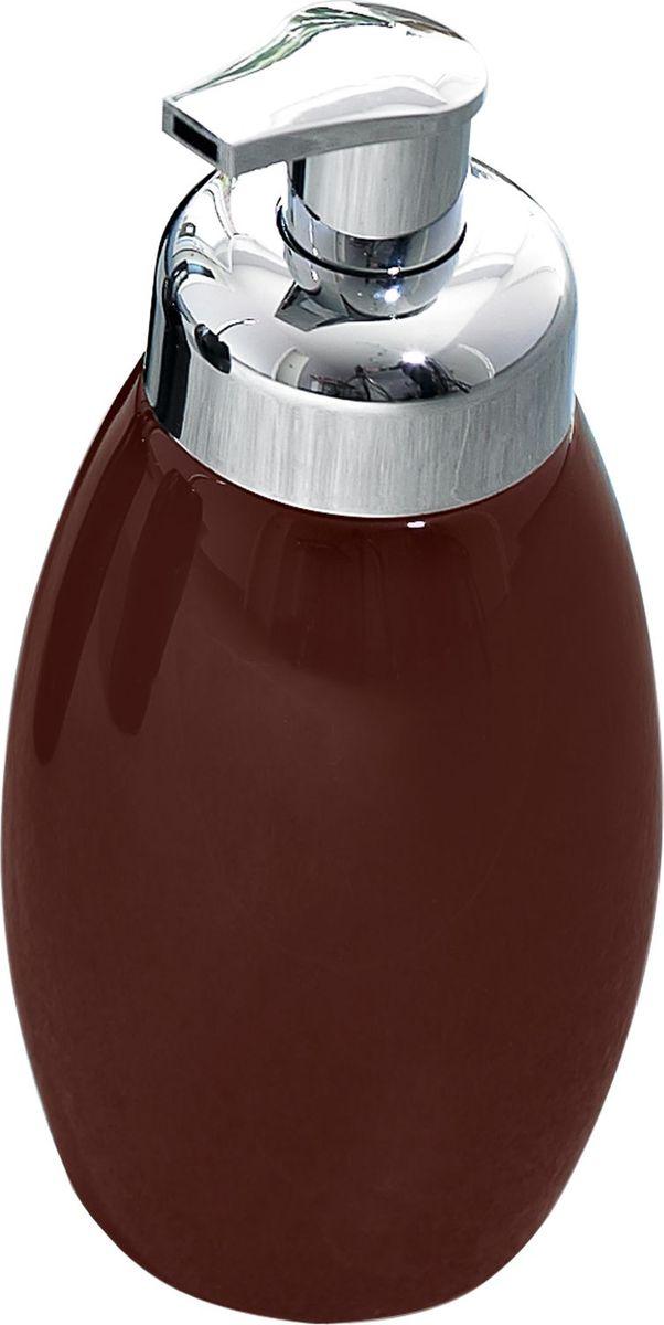 Дозатор для жидкого мыла Ridder Shiny, цвет: коричневый22230508Серия Shiny изготавливается из высококачественной керамики и покрывается слоем экологичного лака. Изделия устойчивы к ультрафиолету.Объём: 500 мл.