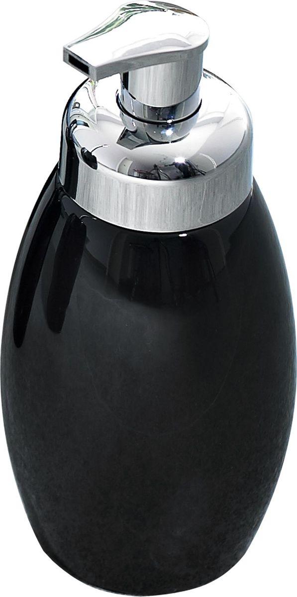 Дозатор для жидкого мыла Ridder Shiny, цвет: черный22230510Серия Shiny изготавливается из высококачественной керамики и покрывается слоем экологичного лака. Изделия устойчивы к ультрафиолету.Объём: 500 мл.