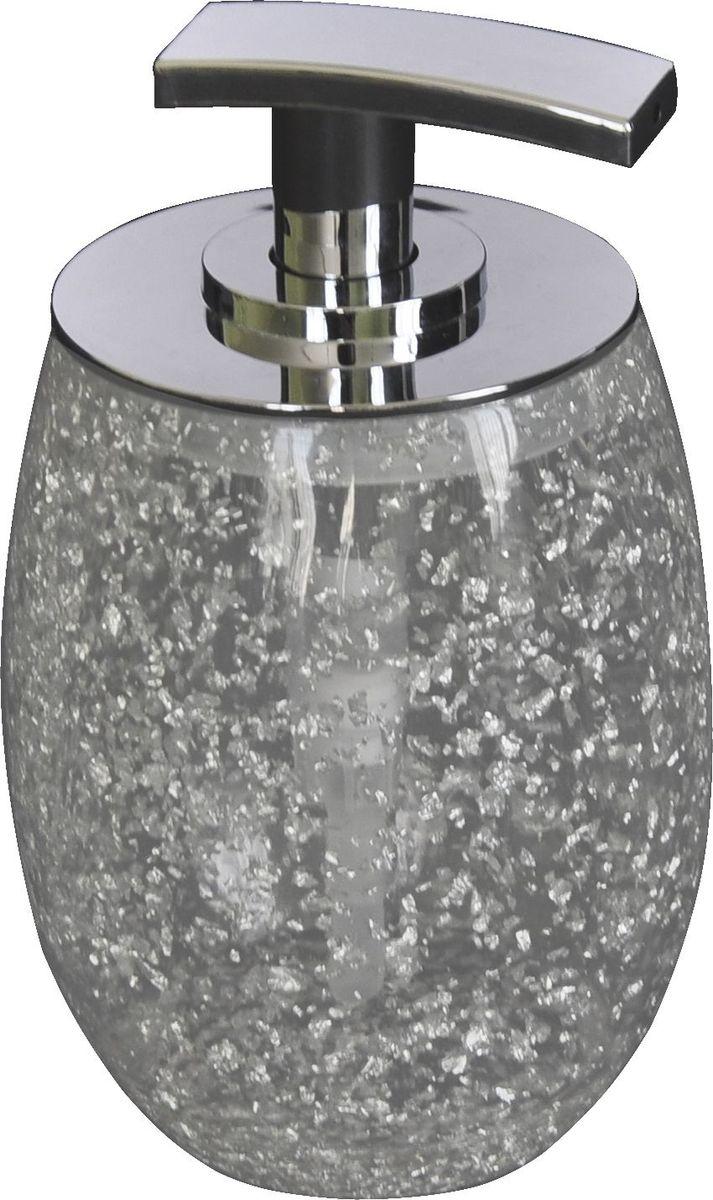 Дозатор для жидкого мыла Ridder Danzig, цвет: серебряный22260527Изделия данной серии устойчивы к ультрафиолету, т.к. изготавливаются из добротной полирезины. Экологичная полирезина - это твердый многокомпонентный материал на основе синтетической смолы,с добавлением каменной крошки и красящих пигментов.