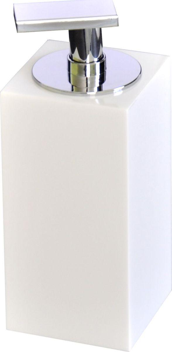 Дозатор для жидкого мыла Ridder Rom, цвет: белый22290501Изделия данной серии устойчивы к ультрафиолету,т.к. изготавливаются из полирезина. Экологичный полирезин - это твердый многокомпонентный материал на основе синтетической смолы,с добавлением каменной крошки и красящих пигментов.Объем: 200 мл.