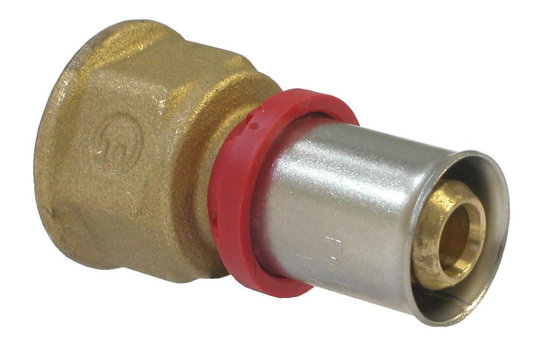 Соединитель Fornara под пресс, п - в, 16 x 1/230622Соединитель Fornara предназначен для соединения металлопластиковых труб под пресс с помощью разводного ключа. Соединение получается разъемным, что позволяет при необходимости заменять уплотнительные кольца, а также производить обслуживание участка трубопровода.