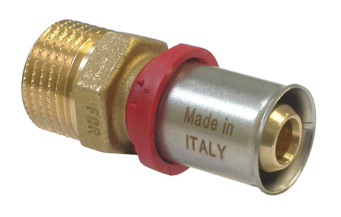 Соединитель Fornara под пресс, п - в, 16 x 1/2A280D-16SAСоединитель Fornara предназначен для соединения металлопластиковых труб под пресс с помощью разводного ключа. Соединение получается разъемным, что позволяет при необходимости заменять уплотнительные кольца, а также производить обслуживание участка трубопровода.