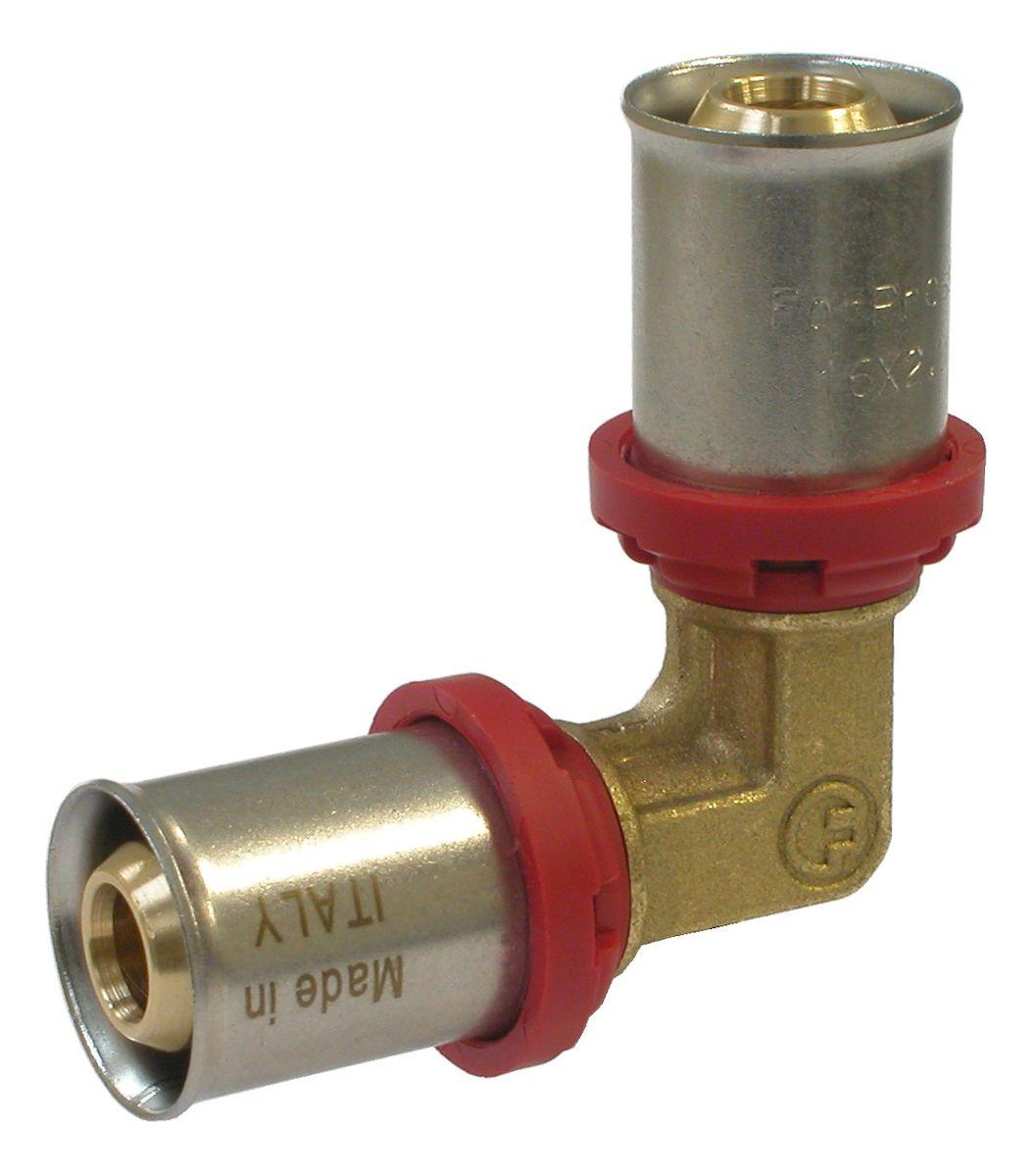 Уголок Fornara под пресс, п - п, 20 x 2030650Уголок Fornara предназначен для соединения металлопластиковых труб с помощью разводного ключа. Соединение получается разъемным, что позволяет при необходимости заменять уплотнительные кольца, а также производить обслуживание участка трубопровода.