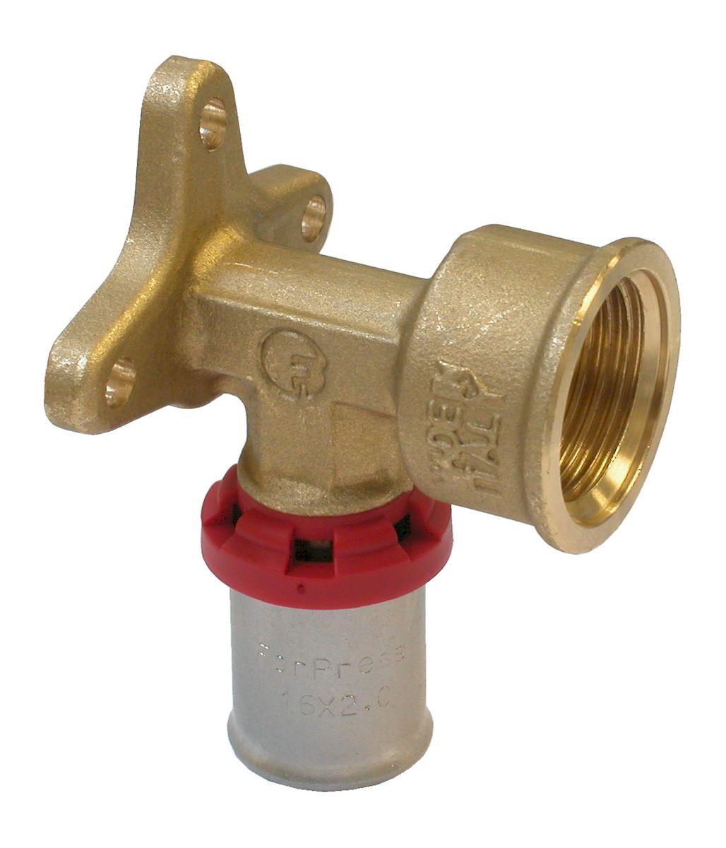 Уголок Fornara под пресс, п - в, 16 x 1/2B180D-16SAУголок Fornara предназначен для соединения металлопластиковых труб с помощью разводного ключа. Соединение получается разъемным, что позволяет при необходимости заменять уплотнительные кольца, а также производить обслуживание участка трубопровода.