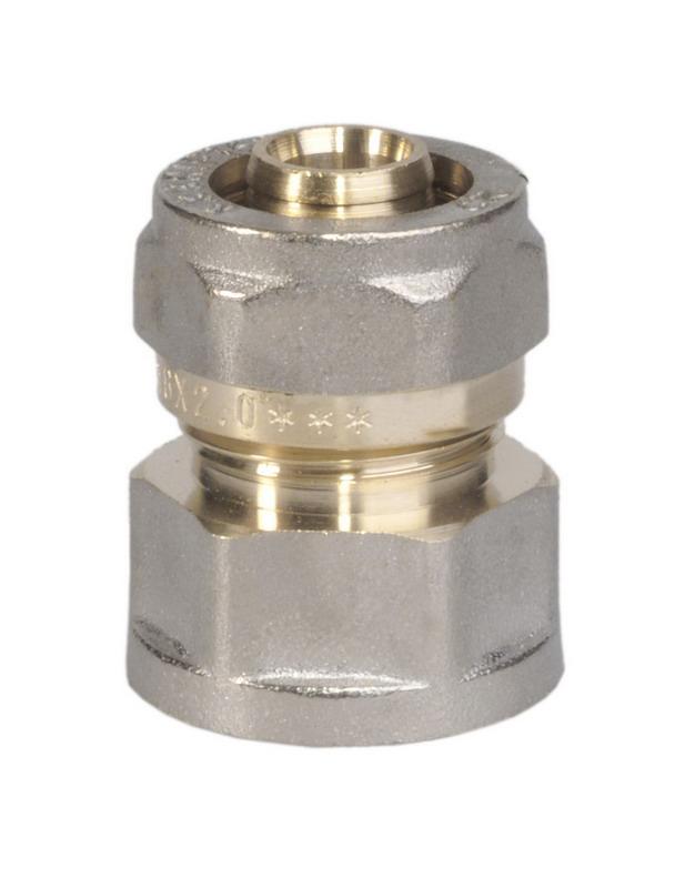 Соединитель цанговый U-tec, 16 x 1/2UTR 121.N 02/PЦанговый соединитель U-tec изготовлен из латуни с никелевым покрытием.Продукция U-tec прошла все необходимые испытания, и по праву может считаться надежной. Качествовыпускаемой продукции позволяет быть уверенным в ее долговечности.