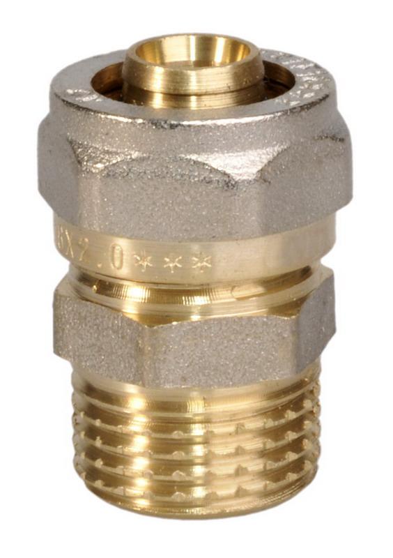 Соединитель цанговый U-tec, 16 x 1/2UTR 181.N 32/PЦанговый соединитель U-tec изготовлен из латуни с никелевым покрытием.Продукция U-tec прошла все необходимые испытания, и по праву может считаться надежной. Качествовыпускаемой продукции позволяет быть уверенным в ее долговечности.