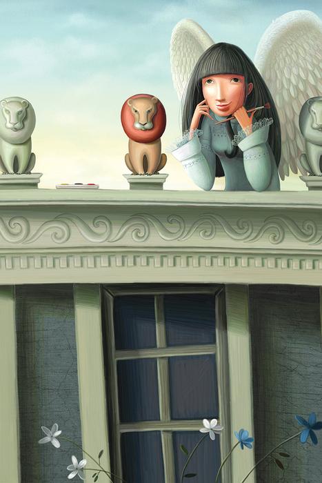 Открытка Вдохновение. Автор Варя КолесниковаKV10-009Оригинальная дизайнерская открытка Вдохновение из серии Музы в городе выполнена из плотного матового картона. На лицевой стороне расположена репродукция картины художницы Вари Колесниковой с изображением музы, раскрасившей льва на крыше. Такая открытка станет великолепным дополнением к подарку или оригинальным почтовым посланием, которое, несомненно, удивит получателя своим дизайном и подарит приятные воспоминания.