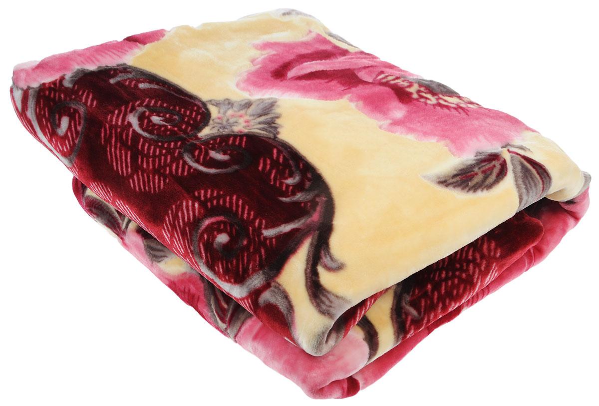 Плед Tamerlan, стриженый, цвет: розовый, бежевый, 200 х 240 см68457Плед  Tamerlan - это идеальное решение для вашего интерьера! Он порадует вас легкостью, нежностью и оригинальным дизайном! Плед выполнен из 100% полиэстера. Полиэстер считается одной из самых популярных тканей. Это материал синтетического происхождения из полиэфирных волокон. Внешне такая ткань схожа с шерстью, а по свойствам близка к хлопку. Изделия из полиэстера не мнутся и легко стираются. После стирки очень быстро высыхают.Плед - это такой подарок, который будет всегда актуален, особенно для ваших родных и близких, ведь вы дарите им частичку своего тепла!Плотность: 625 г/м2