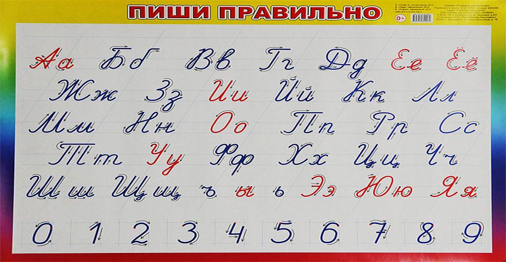 Алфея Обучающий плакат Пиши правильно 440 х 590 мм алфея обучающий плакат малый таблица умножения