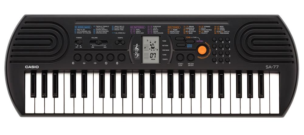 Casio SA-77, Gray цифровой синтезатор - Клавишные инструменты и синтезаторы