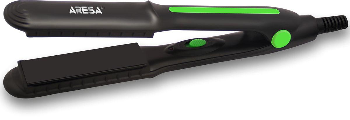 Aresa AR-3318 электрощипцы для волосAR-3318Щипцы для моделирования прически Aresa AR-3318 с инновационным дизайном. Рабочая поверхность щипцов имеет керамическое покрытие. Мощность в 30 Ватт позволяет выпрямлять волосы щадящим и бережным способом. А переключатель On/Off оснащен удобным световым индикатором.