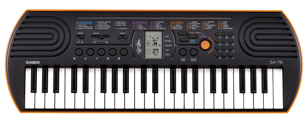 Casio SA-76, Orange цифровой синтезатор