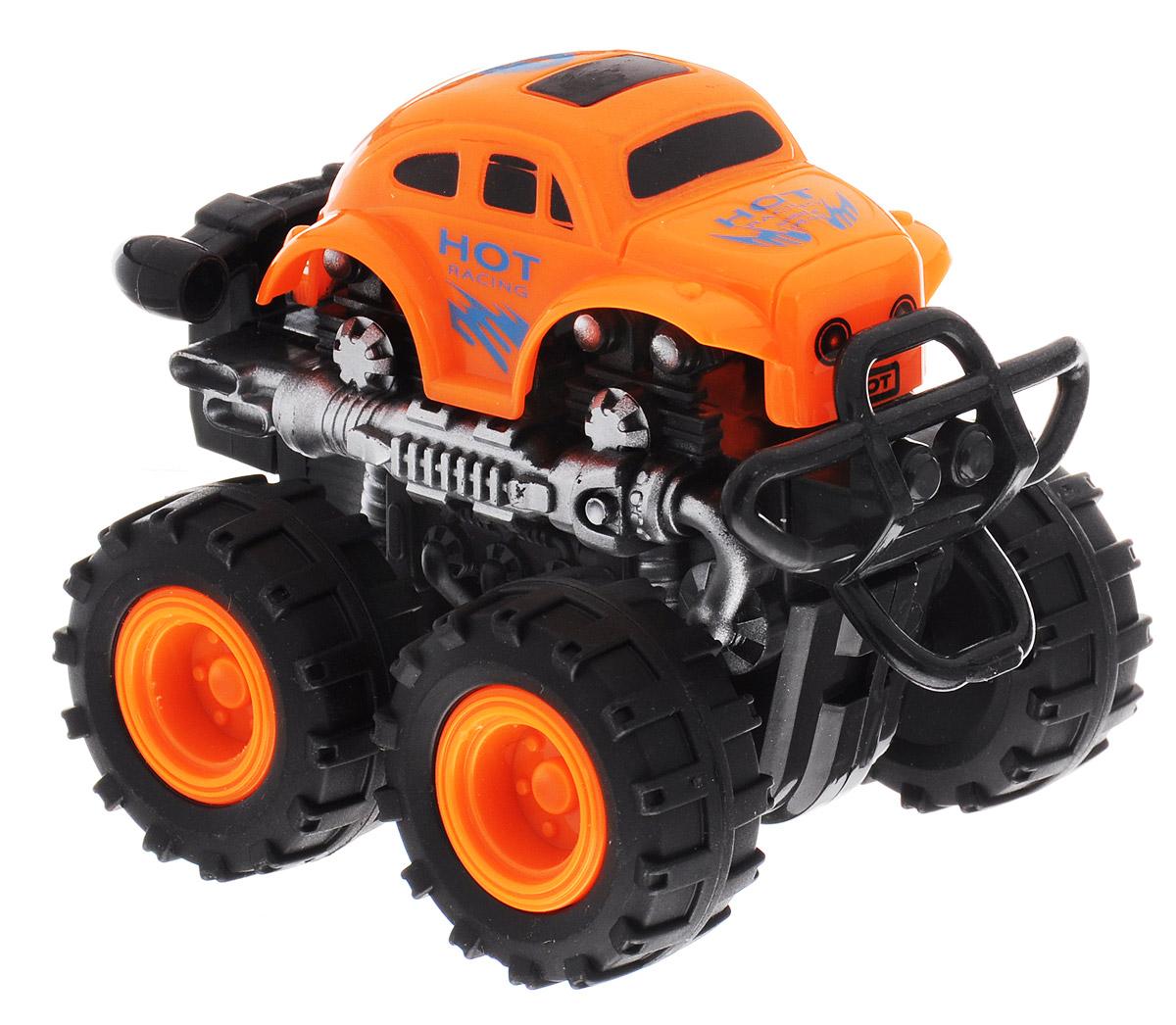 Big Motors Машинка инерционная 4 WD цвет оранжевый пламенный мотор машинка инерционная volvo пожарная охрана