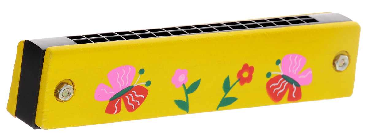 Фабрика Фантазий Губная гармошка Цветы и бабочки цвет желтый