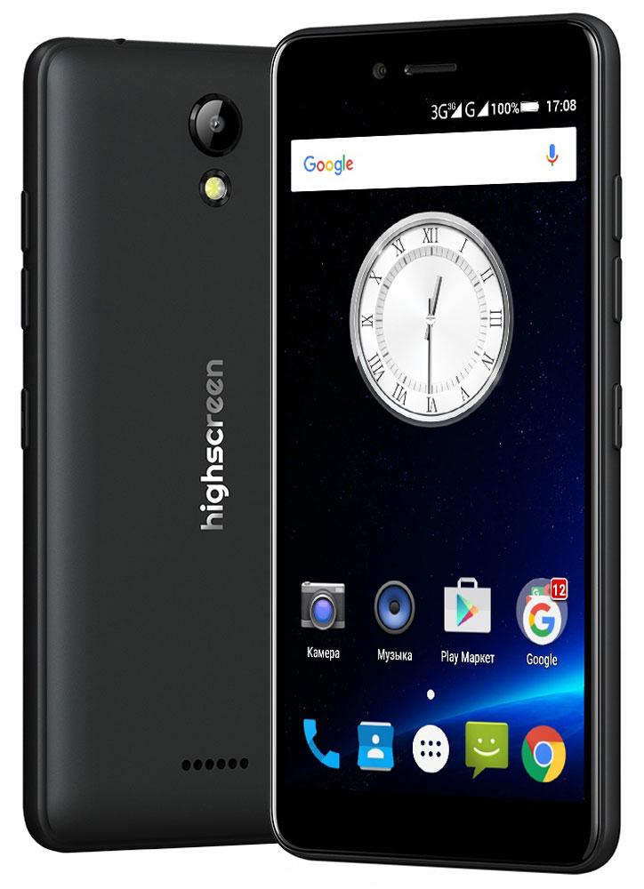Highscreen Easy S, Black23500Highscreen Easy S — поразит тебя дизайном, идеальными линиями корпуса и компактными размерами. Качественные материалы, сбалансированные характеристики, невысокая цена и простота в освоении - это все новая серия смартфонов Easy.Highscreen Easy S работает на базе новейшей операционной системе Android 6 Marshmallow, которая стала еще безопаснее и имеет более высокую производительность и энергоэффективность по сравнению с прошлыми версиями. А еще HIghscreen не добавляет мусорные приложения и игры, тем самым позволяя тебе самому быть хозяином своего смартфона.Яркий и контрастный HD-экран, выполненный по технологии IPS, обеспечивает правильную и точную цветопередачу. Повышенная чувствительность дисплея пригодится в динамичных играх и при наборе текста, когда требуется моментальный отклик и точное попадание.Не отставай от друзей и радуй себя и их качественными снимками. Ты можешь делать фото как в автоматическом так и в профессиональном режиме, где доступно множество настроек и улучшений. Сохранить отснятый материал, электронную литературу, документы и любую другую информацию возможно на карту памяти microSD, для неё в телефоне предусмотрен слот. Устройство имеет поддержку одновременной работы двух сим карт. Выбирайте разные тарифы, используйте разные телефонные номера, разделяйте звонки на личные и рабочие и учитывайте финансовую выгоду при общении.Смартфон сертифицирован EAC и имеет русифицированный интерфейс меню и Руководство пользователя.