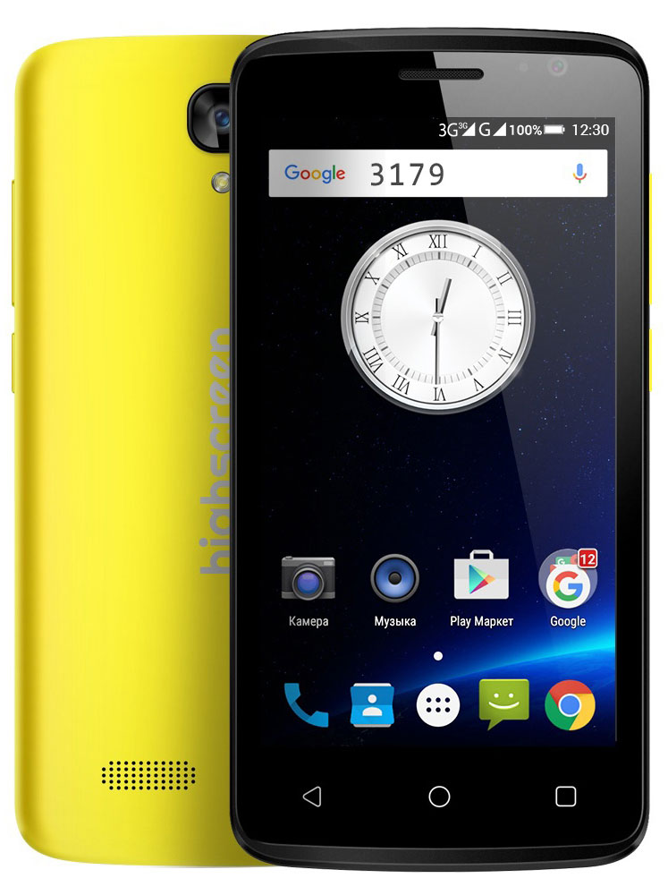 Highscreen Easy F, Yellow смартфон highscreen fest xl pro blue