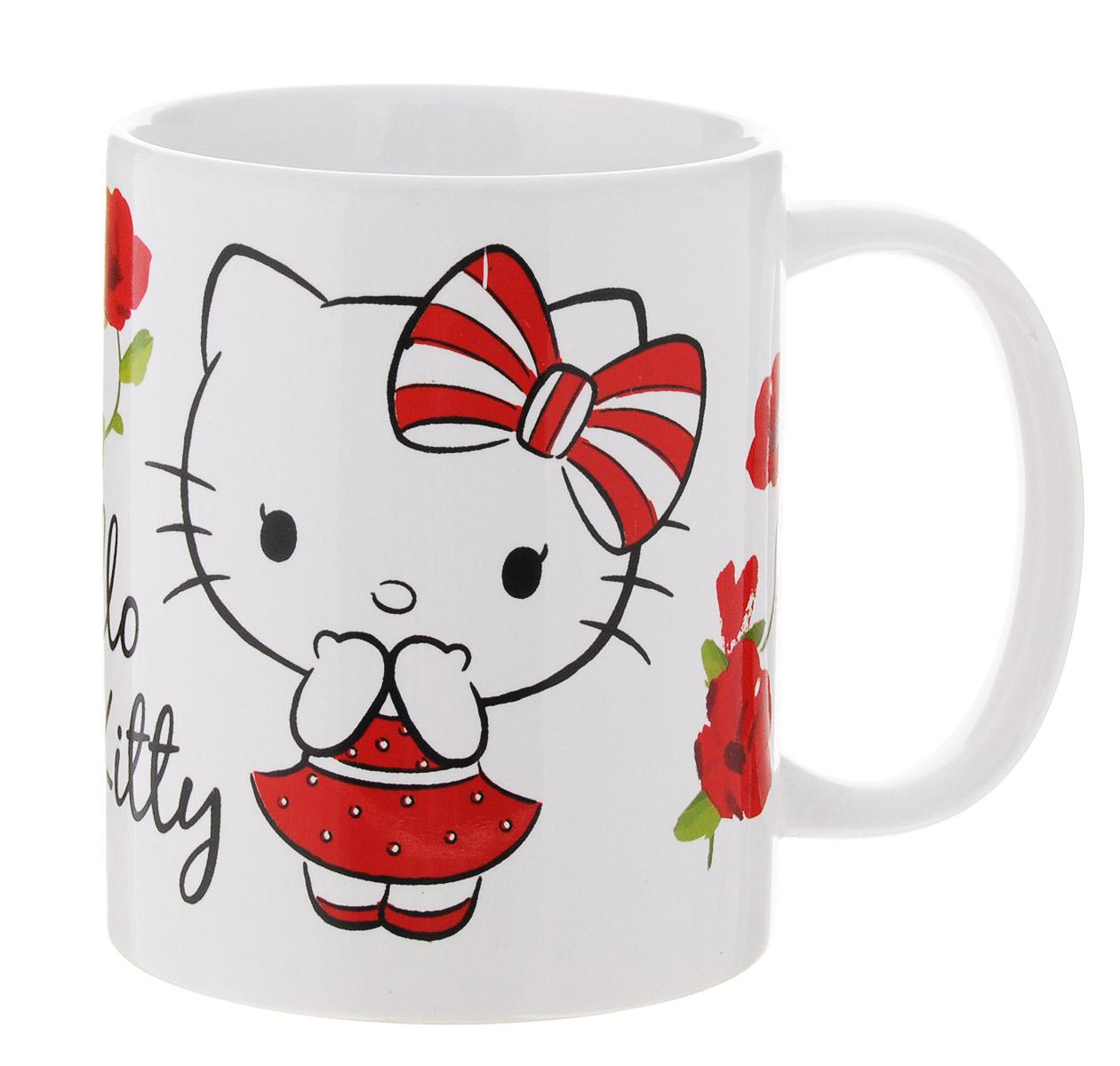 Hello Kitty Кружка детская 330 мл46205Детская кружка Disney Hello Kitty с любимым героем станет отличным подарком для вашего ребенка. Она выполнена из керамики и оформлена изображением симпатичной кошечки Китти.Кружка дополнена удобной ручкой. Такой подарок станет не только приятным, но и практичным сувениром: кружка будет незаменимым атрибутом чаепития, а оригинальное оформление кружки добавит ярких эмоций и хорошего настроения.Можно использовать в СВЧ-печи и посудомоечной машине.