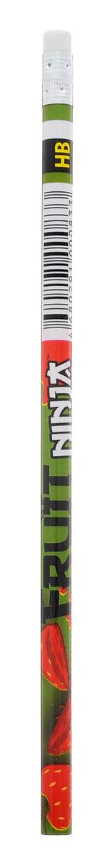 Action! Карандаш чернографитный Fruit Ninja цвет зеленыйFN-ALP117_зеленыйКарандаш с ластиком Action! Fruit Ninja - идеальный инструмент для самовыражения и развития маленького художника!Корпус карандаша выполнен из высококачественной древесины и оформлен изображением сочных фруктов и логотипом игры Fruit Ninja. Карандаш обладает мягким грифелем и позволяет штрихам легко ложиться на бумагу.