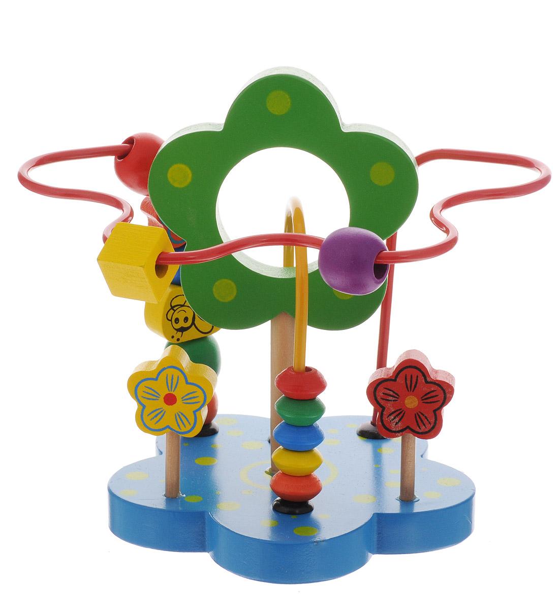 Развивающие деревянные игрушки Лабиринт Цветок